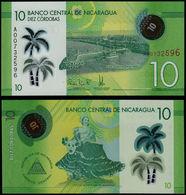 Nicaragua 10 Córdobas 2014 (2015) Pick 209 Polymer  UNC - Nicaragua