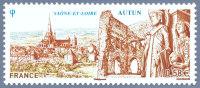 France Architecture N° 4552 ** Site - Autun - Remparts + Cathédrale Saint Lazare + Temple De Janus - Eglises Et Cathédrales