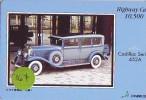 Carte Prépayée Voiture (167) OLDTIMER JAPAN * Carte JAPON * WAGEN * CAR * AUTO  * CADILLAC - Auto's