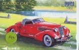 Carte Prépayée Voiture (193) OLDTIMER JAPAN * Carte JAPON * WAGEN * CAR * AUTO  * AUBURN - Cars
