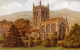 ARQ, Artist - Quinton.  Salmon Card *1508.   The Priory Church, Malvern.  (sr622). - Worcestershire