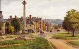 ARQ, Artist - Quinton.  Salmon Card 2509.   Memorial Cross, Broadway.  (sr099). - Worcestershire