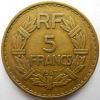 RARE ! 5 Francs Lavrillier Bronze-alu 1947 - J. 5 Franchi