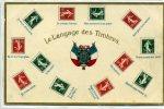 LE LANGAGE DES TIMBRES - Carte Gauffrée - Stamps (pictures)