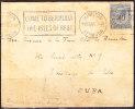 T)1926,CIRC.COVER BERMUDA TO CUBA,COME TO BERMUDA THE ISLES OF REST,BLACK SEAL - Bermuda