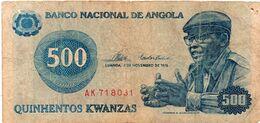 ANGOLA - 500 KWANZAS 1984 VF++ P 120 A P120a - Angola