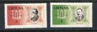 Li1993, Declaration Of Independence Mi 516/7 ** - Lithuania