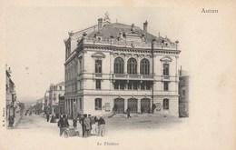 Dép. 71 - AUTUN. - Pionnière. Le Théatre. Animée. B. F., Paris - Autun