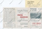 Courrier En-tête CENTRAL IMMOBILIER LES SABLES D'OLONNE 2 Avenue NICOT + Tableau Des Marées 1964 Et Plan Ville - Francia