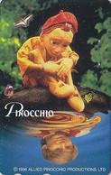 RARE Télécarte Japon - Cinema - PINOCCHIO & Papillon Butterfly - Japan Movie Phonecard / Italy - Kino