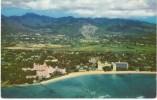 Aerial View Of Waikiki Beach Hotels, Honolulu HI Hawaii, USS Markab Navy Cancel Postmark, C1960s Vintage Postcard - Honolulu