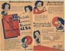 Jeu De L'ALSA - La Veritable Levure Alsacienne- Entrés Bon état Année 1930 - Publicités