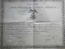 DIPLOME ORDRE NATIONAL LEGION HONNEUR COMMANDEUR COMMANDANT ARMEE AIR AVIATION 1940 GROUPE CHASSE 1/5 PILOTE - France