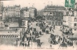 75 PARIS LE PONT NEUF A VOL D'OISEAU ANIMEE MAGASIN BELLE JARDINIERE CIRCULEE 1908 - Puentes