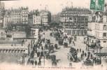 75 PARIS LE PONT NEUF A VOL D'OISEAU ANIMEE MAGASIN BELLE JARDINIERE CIRCULEE 1908 - Ponti