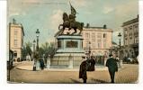 """Ancienne Cp """" Bruxelles, Godefroidde Bouillon"""" Avec Valeur Et Cachet 1911 - Squares"""