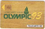 Télécarte  OLYMPIQUE  93, En  594, 50 U, 11 000  Ex, 02/93, Cote  14 € - 50 Unidades