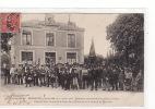 Belle Carte 1905 MORANNES / Concours De Pêche à La Ligne,réunion Dans La Cour De La Gare ,fanfare De Morannes - France
