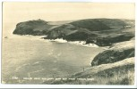 United Kingdom, Kellan Head And Port Quin Bay From Trevan Point, 1950s Used Real Photo Postcard [P8900] - England