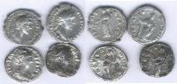 LOT DE 4 DENIERS De ANTONIN LE PIEUX (138 161) Et De Sa Femme FAUSTINE - 3. Les Antonins (96 à 192)