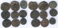 LOT DE 9 BRONZES De GALLIEN à THEODOSE I - 7. L'Empire Chrétien (307 à 363)