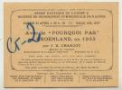 """Conférence Commandant CHARCOT Avec Le """" POURQUOI PAS """" Au GROENLAND EN 1933 NANTES - Programmes"""