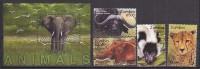 PGL AA0227 - ZAMBIA Yv N°1093/96 + BF ** ANIMAUX ANIMALS - Zambia (1965-...)