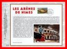 """CEF 1° Jour De 2002 N° 1590 """" LES ARENES DE NIMES """". N° YT 3470 - FDC"""