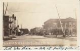 Grand Rapids MN Minnesota, Main Street Scene, Auto, Railroad Crossing Barrier, On C1910s Vintage Real Photo Postcard - United States