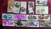 Lot 13 Petites Cartes Nouvel An - Cartes Postales
