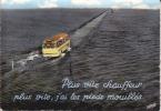 CPSM GOIS BUS Passage Recouvert Par Les Eaux Noimoutier Vendée  Si Bandes Jaunes Dues Au Scan - Ile De Noirmoutier