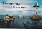 CPSM GOIS Passage Noimoutier Vendée Autos Simca Peugeot Balise La Mer Monte Si Bandes Jaunes Dues Au Scan - Ile De Noirmoutier