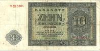 GERMANY WEST 10 MARK GREEN MOTIF FRONT & BACK  DATED 1948  P12 READ DESCRIPTION !! - [ 5] 1945-1949 : Allies Occupation