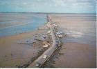 CPSM GOIS Passage Noimoutier Vendée Vu D'avion Auto Voitures Balise   Si Bandes Jaunes Dues Au Scan - Ile De Noirmoutier