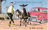 CPSM GOIS GOA Comique Passage Noimoutier Vendée âne Tractant Auto Humour Si Bandes Jaunes Dues Au Scan - Ile De Noirmoutier