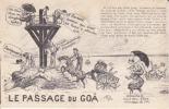 CPA GOIS GOA Comique Passage Noimoutier Vendée âne Mauvais Temps Humour Si Bandes Jaunes Dues Au Scan - Ile De Noirmoutier