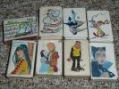 Rare Lot De 11 Boites D´allumettes Anciennes, Série BD Dargaud Manara Fred Cabu Bidochons - Cajas De Cerillas (fósforos)