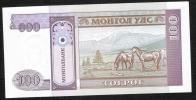 MONGOLIA   P57  100  TUGRIK   1993 LOW NUMBER  # AA0018107 - Mongolia
