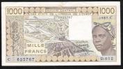 WAS BURKINA FASO P307Cf  1000 FRANCS  1985   XF  NO P.h. ! - Burkina Faso