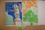 PER/18 NUOVISSIMA PIANTA ROMA - GUIDA TRAMWAYS - AUTO - FILOBUS E.Verdesi Anni ´50 - Europa