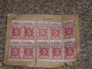 Rare Lot De Timbres-épargne à 5 Francs, Caisse D´Epargne Strasbourg - Militaria