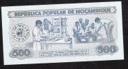 MOZAMBICA  P127  500 METICAIS  1980 LOW NUMBER # AA 0003823    UNC. - Mozambique