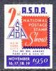 U.S. ASDA  2nd.  NATIONAL POSTAGE STAMP EXPO. NY, 1950  ** - United States