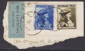 Norway PPC Clip KONGSBERG 1946 Airmail Med Luftpost Par Avion Label Mi. 311 + 313 - Briefe U. Dokumente