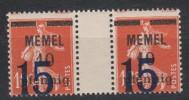 Memel,34,ZW,postfrisch (131) - Memelgebiet