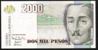 COLOMBIA   P451e    2000 PESOS   8.5.2002  Rare Date   UNC. - Colombia