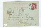 HANDGESCHREVEN BRIEFKAART Uit 1885 Van ANVERS BELGIE Naar LEIDEN (5612) - Bélgica