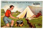 442) - 08 - CARTE A SYSTEME DE GIVET (patience ça Mijote Regarde Sous La Tente) - Givet