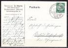 Karte, Missionar Martin, EF Hindenburg, SoSt Schorndorf Stahlrohr-Betten, Nach Uhingen 1935 (69634) - Germania