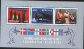 Isola Faroer  1993 Foglietto BF6 10° Della Casa Dei Nordici 3v ** MNH Isle Of Faroer 10° Nordic House - Faroe Islands